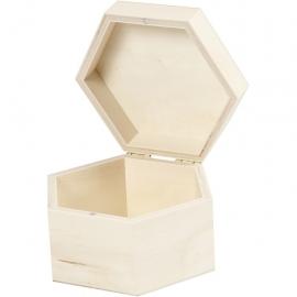 Caja de madera, medidas 12x7 cm,