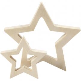 Estrellas de madera, 2ud