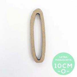 O-LETRA MANUSCRITA (10cm)