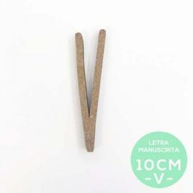 V-LETRA MANUSCRITA (10cm)