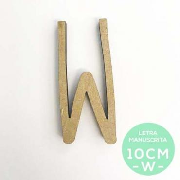 W-LETRA MANUSCRITA (10cm)