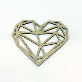 Silueta Geométrica - Diamante - 8cm