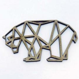 Silueta Geométrica - Oso - 8cm