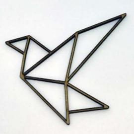 Silueta Geométrica - Pajarita - 8cm