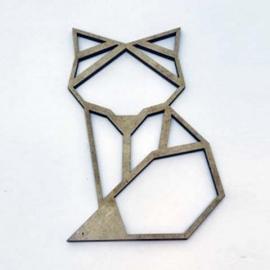 Silueta Geométrica - Zorro - 8cm