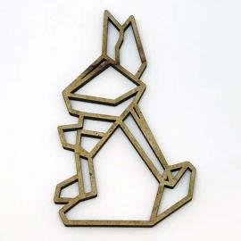 Silueta Geométrica - Conejo - 8cm
