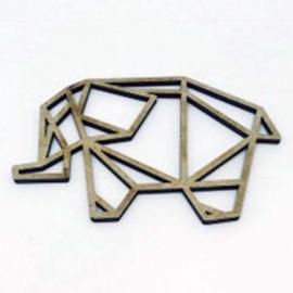Silueta Geométrica - Elefante - 30 m