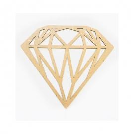 Silueta Geométrica - diamante - 30cm