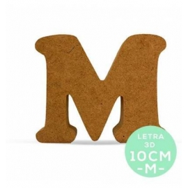 LETRA M DM 10CM