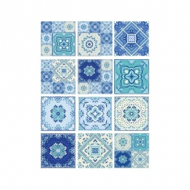 Papel de Arroz TILES BALDOSAS AZUL MIX
