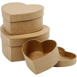 Caja corazon 3 medidas