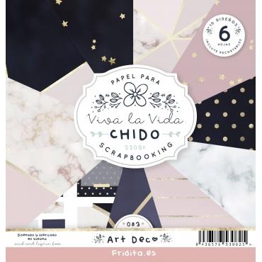 SET PAPELES - ART DECÓ by CHIDO
