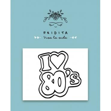 SELLO MINI I LOVE 80,s 5X4