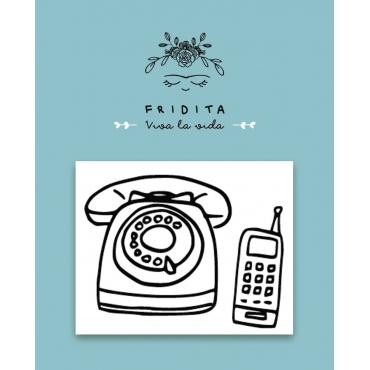SELLO MINI 80,s TELEFONO 5X4