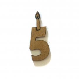 NUMERO 5 VELA DE CUMPLEAÑOS
