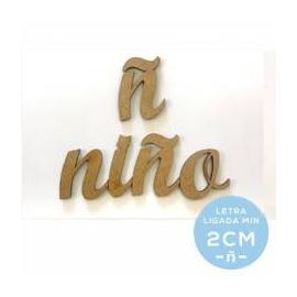 LETRA - Ñ DM ADHESIVA MINUSCULA 2CM