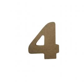 NUMERO 4 COOPER 10CM