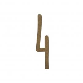 NUMERO 4 MANUSCRITO 10CM