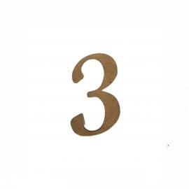 NUMERO 3 LIGADO 2CM
