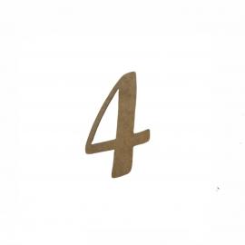NUMERO 4 LIGADO 2CM