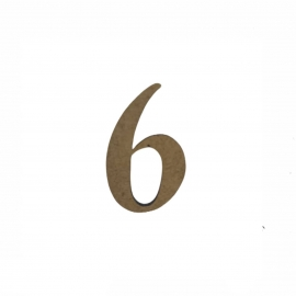 NUMERO 6 LIGADO 2CM