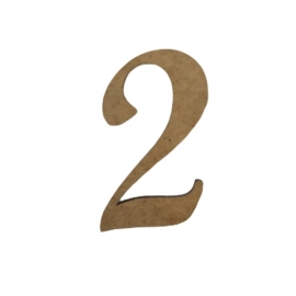 NUMERO 2 LIGADO 4CM