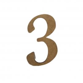 NUMERO 3 LIGADO 4CM