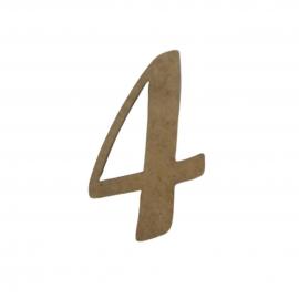 NUMERO 4 LIGADO 4CM