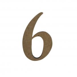 NUMERO 6 LIGADO 4CM