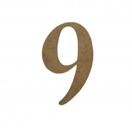 NUMERO 9 LIGADO 4CM