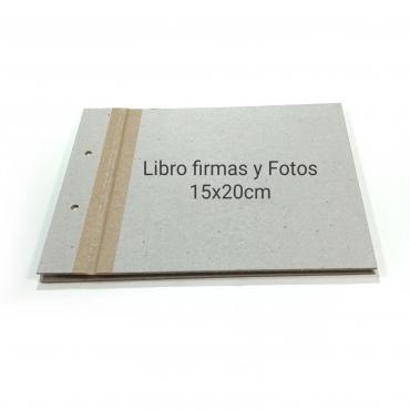 ÁLBUM PEQUEÑO 15X20CM LIBRO DE FIRMAS