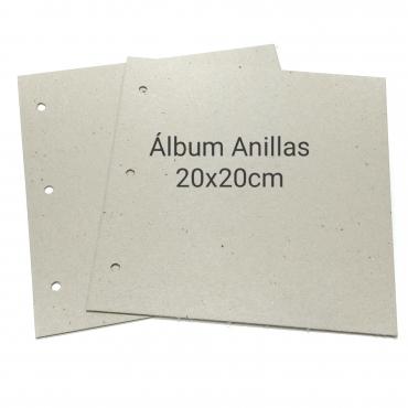 ÁLBUM 3 ANILLAS 20X20CM