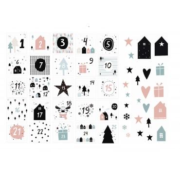Die cuts navidad en casa - calendario