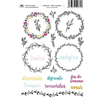 CORONAS FLORALES CLEAR STICKERS