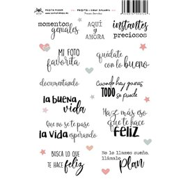 FRASES BONITAS CLEAR STICKERS
