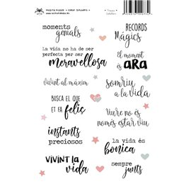 FRASES CATALÁN CLEAR STICKERS