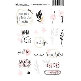 SUEÑA EN GRANDE CLEAR STICKERS