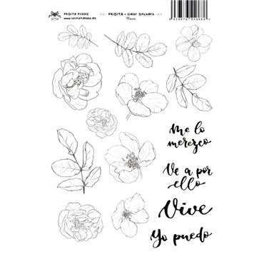 FLORA CLEAR STICKERS