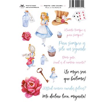 ALICE IN WONDERLAND CLEAR STICKERS