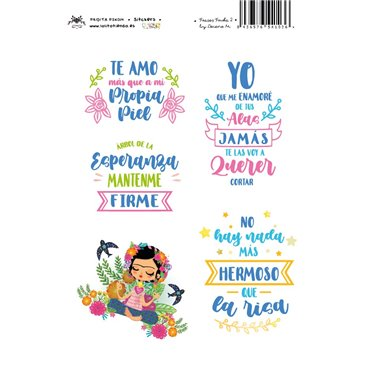 Frases FRIDA - 02 - STICKERS