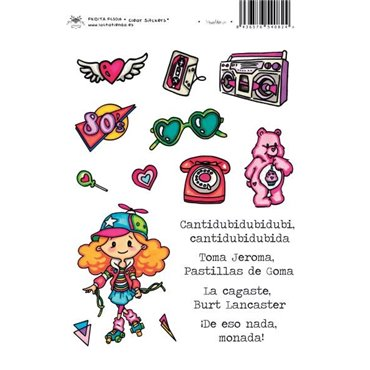 VUELTA A LOS 80'S CLEAR STICKERS