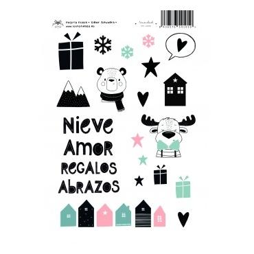 NAVIDAD EN CASA STICKERS