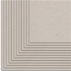 Pack de 10 cartones GRIS contracolado 1,5mm