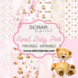 Papel de scrap imprimible Sweet baby pink