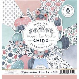 SET PAPELES - AUTUMN PUMPKINS by CHIDO