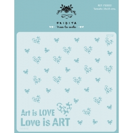 Art is love ISA LOZANO - stencil 15x15