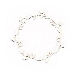 Marcos cartoncillo 10cm diámetro modelo flor
