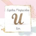 Letra 8CM Ligada Mayuscula Adhesiva